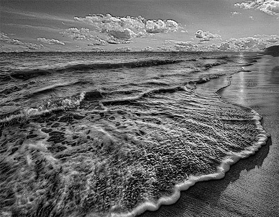 Paisaje de playa láser completo