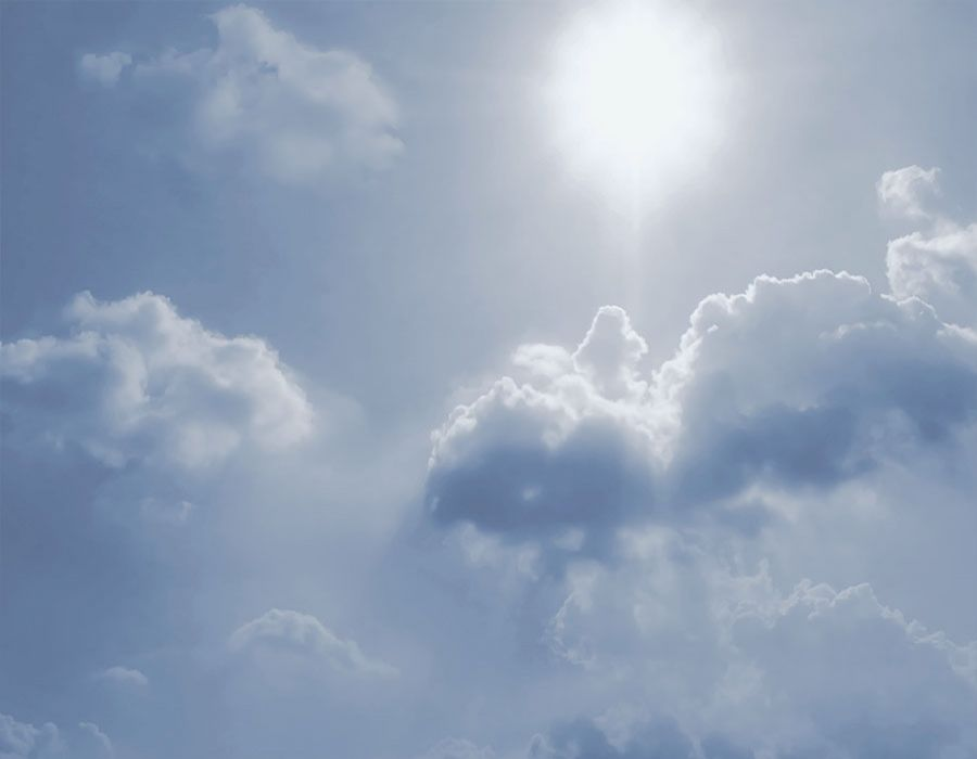 Fondo cielo soleado