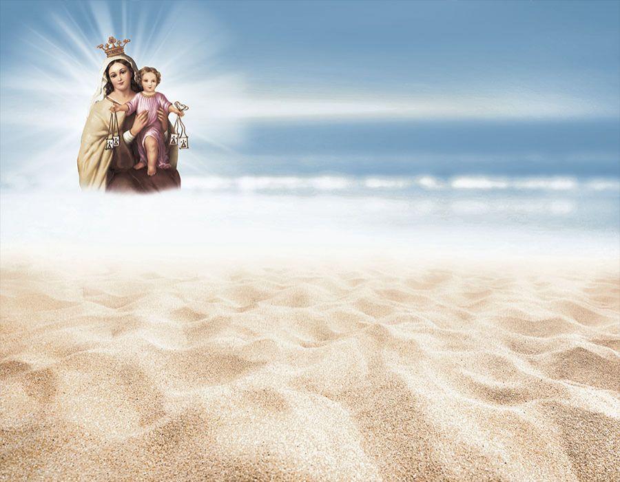 Playa con Virgen del Carmen