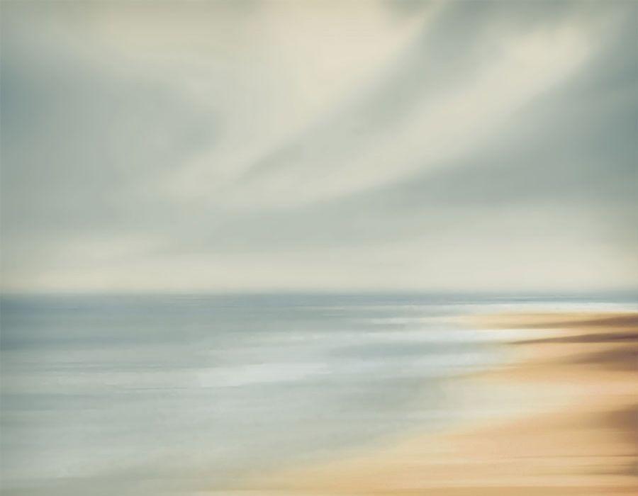 Paisaje de playa con difuminado artístico