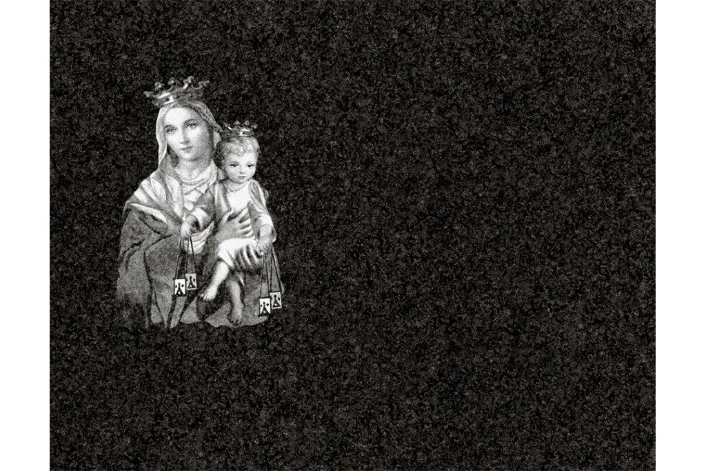 Virgen del Carmen láser