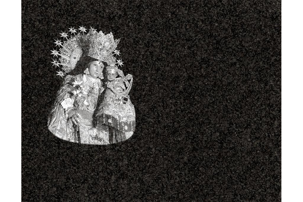 Virgen de los desamparados Valencia láser